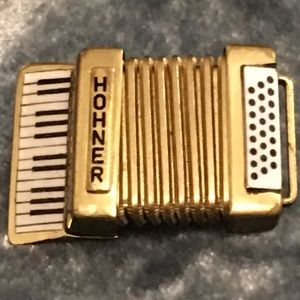 Vintage HOHNER accordion brooch made in Germany